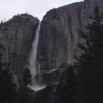 View of Yosemite Falls from our front door.