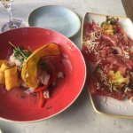 Ceviche appetizer was awesome. Enjoyed the watermelon with prosciutto as well.