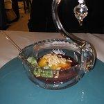 "Dessert  ""Pêche MELBA"" Restaurant Sarah BERNHARDT Hotel Paris Prague"