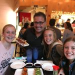 My girls with the owner at Miso Phat.