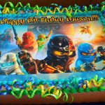 Custom Ninja Go Cake with extra love and care ;)