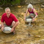 Gold panning in the Klondike