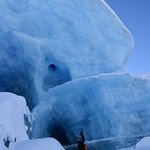 Going inside an ice cave