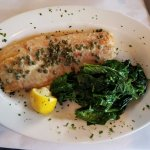 Lake Superior Whitefish with Fire Roasted Spinach