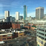 View from top floor of hotel across Birmingham