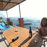 Drink some Cinque Terre white wine and relax! Superior Double Room with Terrace and Sea View