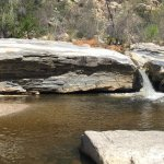 Sabino River with beautiful rocks and a sweet-sounding waterfall