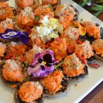 Some of our catering - vegan Stuffed Mushrooms
