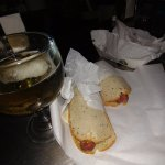 Heartburn be danged...cold beer and not one but TWO special sandwiches!!!