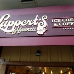 The sign above the door for Lappert's