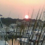 Gorgeous views over the marina at sunset!