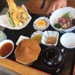 Accidental visit raw fish & seafood tempora