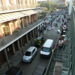 Balcony overlooking Myrtle's and toward Jackson Square