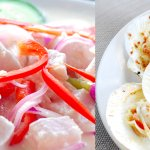 Kinilaw Tangegue & Baked Scallops
