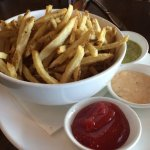 These fries are EXCELLENT; served with hand-made 1,000 island, and green chili sauce.