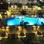 Night View of pool from balcony