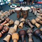 Drumming with Sound Synergy at Ballina Beach Village