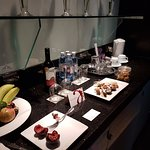 Complimentary goodies in the suite
