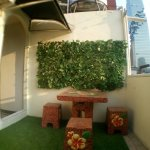 Small space area with good view of Silom road