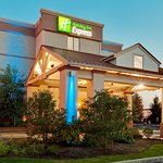 The Beautiful Holiday Inn Express Exton Exterior at dusk