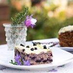 Home made yogurt & blueberry cake
