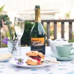 Afternoon tea with bubbles