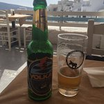 View you can enjoy at Thalami terrace and a great local beer