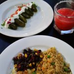 stuffed jalapenos, pulled pork enchilada, strawberry margareta