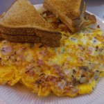 Supreme Omelet & Dumpling French Toast