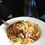 Un délicieux boeuf aux oignons accompagné de nouilles chinoises, le tout très parfumé !