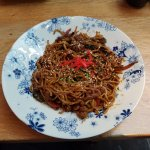 Chilli beef noodles, very nice