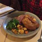 Roast sirloin of Cornish beef with all the trimmings