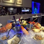 Medium seafood platter with stone crab claws