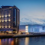 Hilton Belfast hotel - Exterior at Night