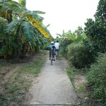 Our group bike ride back to the Mekong Lodge