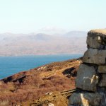 Geopark in the distance, from the Assynt viewpoint on the Lochinver road.