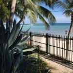 Views onto the surrounding beach