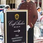 Our Hotel Sacher Vienna, Austria lunch visit in July 2016 at the Rote Bar, highly recommended