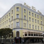 A tastefully reconstructed historical hotel is situated at the beginning of the pedestrian zone.