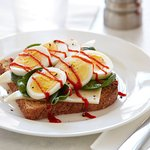 Toast with Hard Cooked Eggs