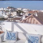 view from the roof terrace over sunny Tavira