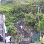 Steps up to Ft. George, Sendall Tunnel to Left