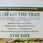 """Trail Head Warning... and """"length of hike"""" - It is """"out and back"""" so you can turn around any tim"""