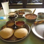 Uppma & Idlis with Sambhar, Fresh Coconut Chutney & South Indian Fresh Filter Coffee with milk