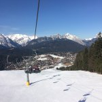 Seefeld from the Gschwandtkopf chair lift