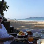 Beach front breakfast
