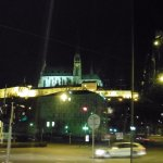 vista nocturna de la catedral