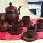 Juego de café de madera de Campeche