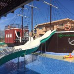Kids Splash Pool/Indoor Pool Behind Pirate Ship
