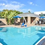 Take a dip in our heated, outdoor swimming pool.